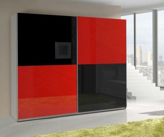 Presta Red 2 Armoire Penderie Single Door Wardrobe Sliding