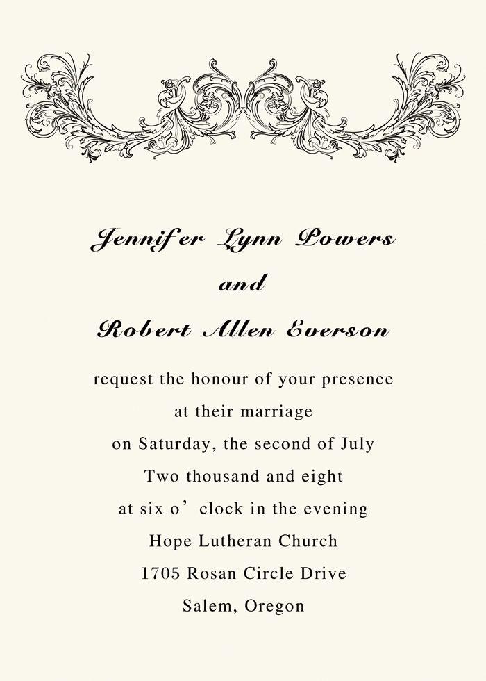 simple vintage ivory printable wedding invitations with free - invitation template online