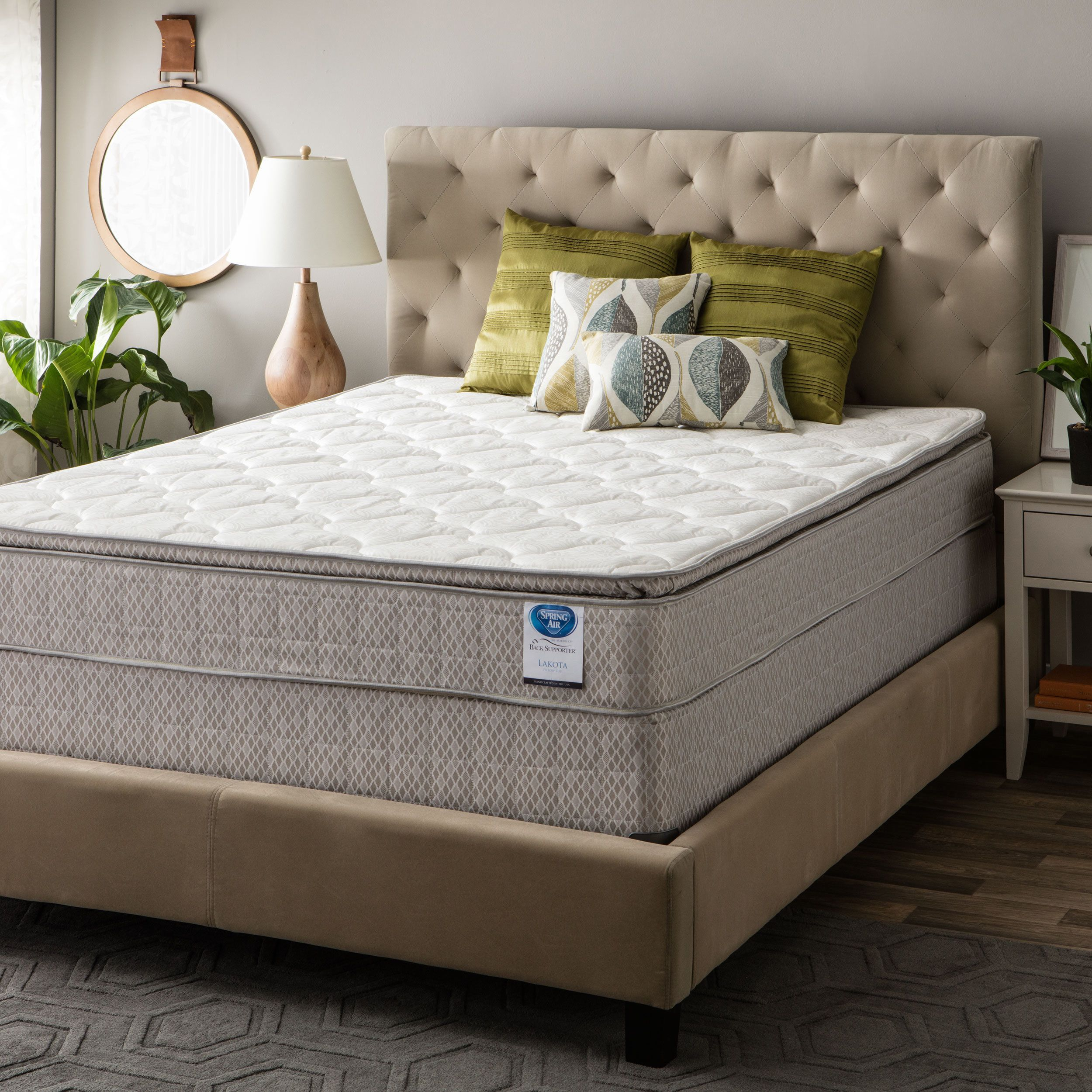 spring air value collection lakota cal king size pillow top mattress