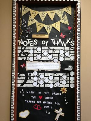 Door I Decorated For Our Music Pastor Worship Leader At Church