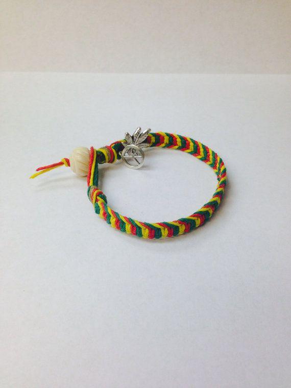 Hemp bracelets - peace&ganja on Etsy, $10.00