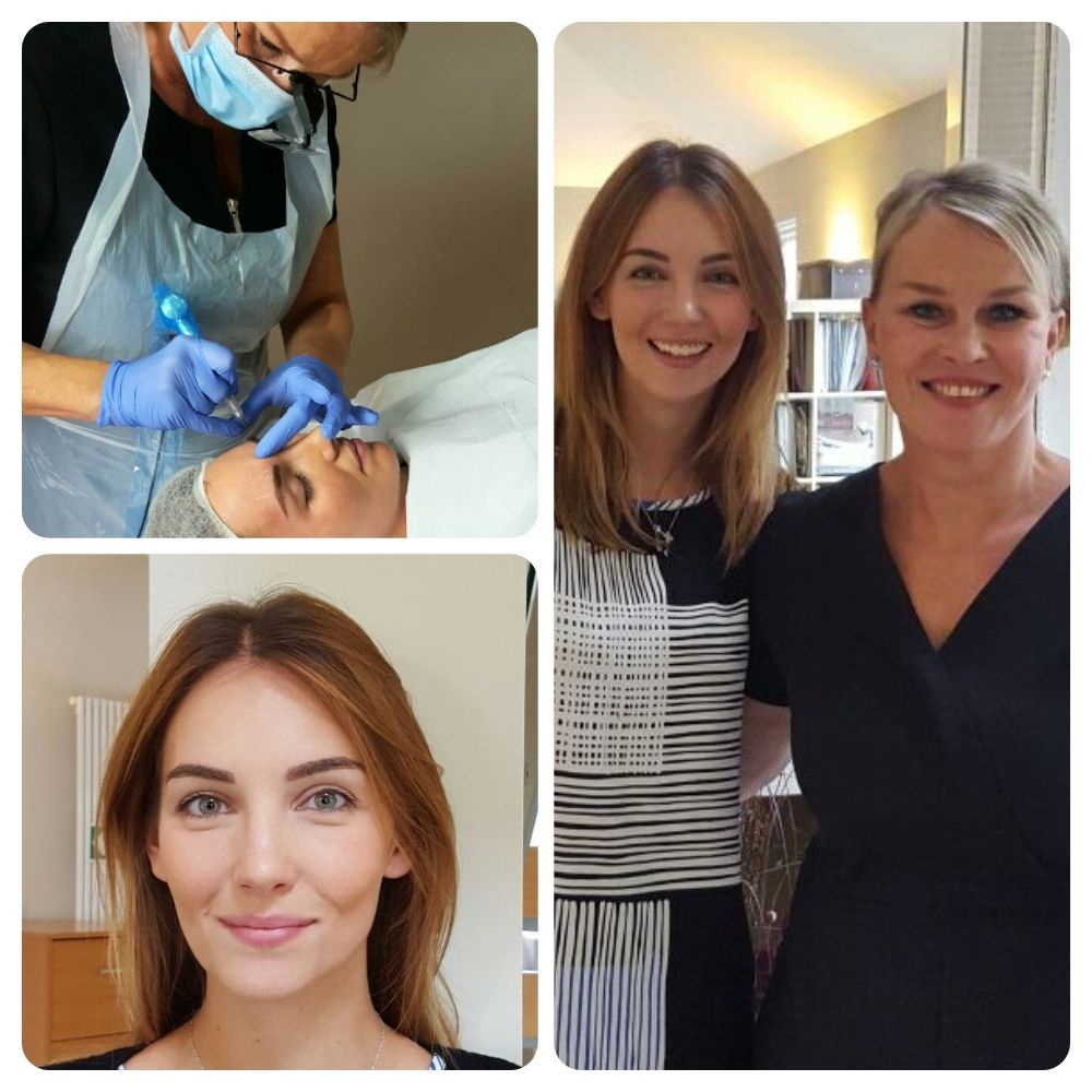Semi Permananent Makeup Lips, Eyebrows, Eyeliner (With