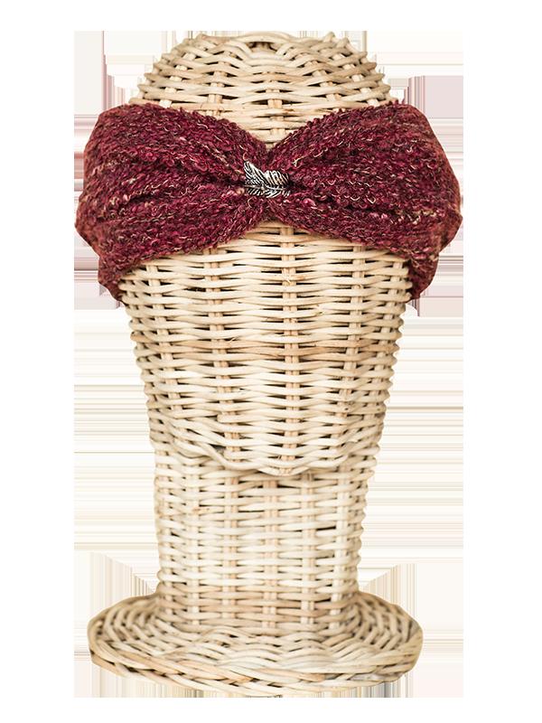 Turbante de lana granate. Hippie, boho-chic, ethnic style. Fashion, Casual Style. Rosebell - wool turban - winter turban