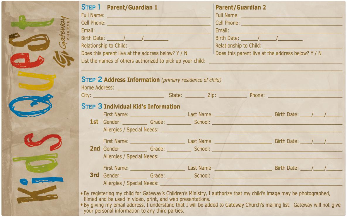 Click To Close  ChildrenS Ideas    Registration Form