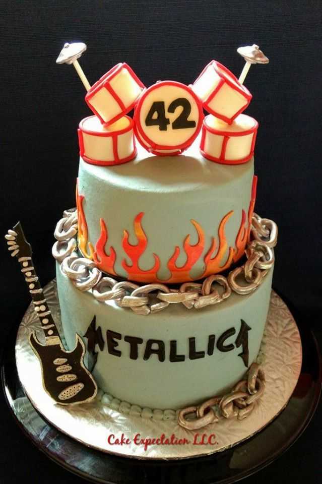 Metallica Themed Birthday Cake