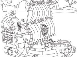 Coloring Pages Jake And The Neverland Pirates Jake And