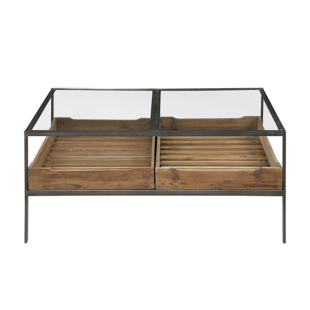 Silas Coffee Table 2 Cartons Uttermost Steel Coffee Table Coffee Table Coffee Table Wood [ 1000 x 1000 Pixel ]