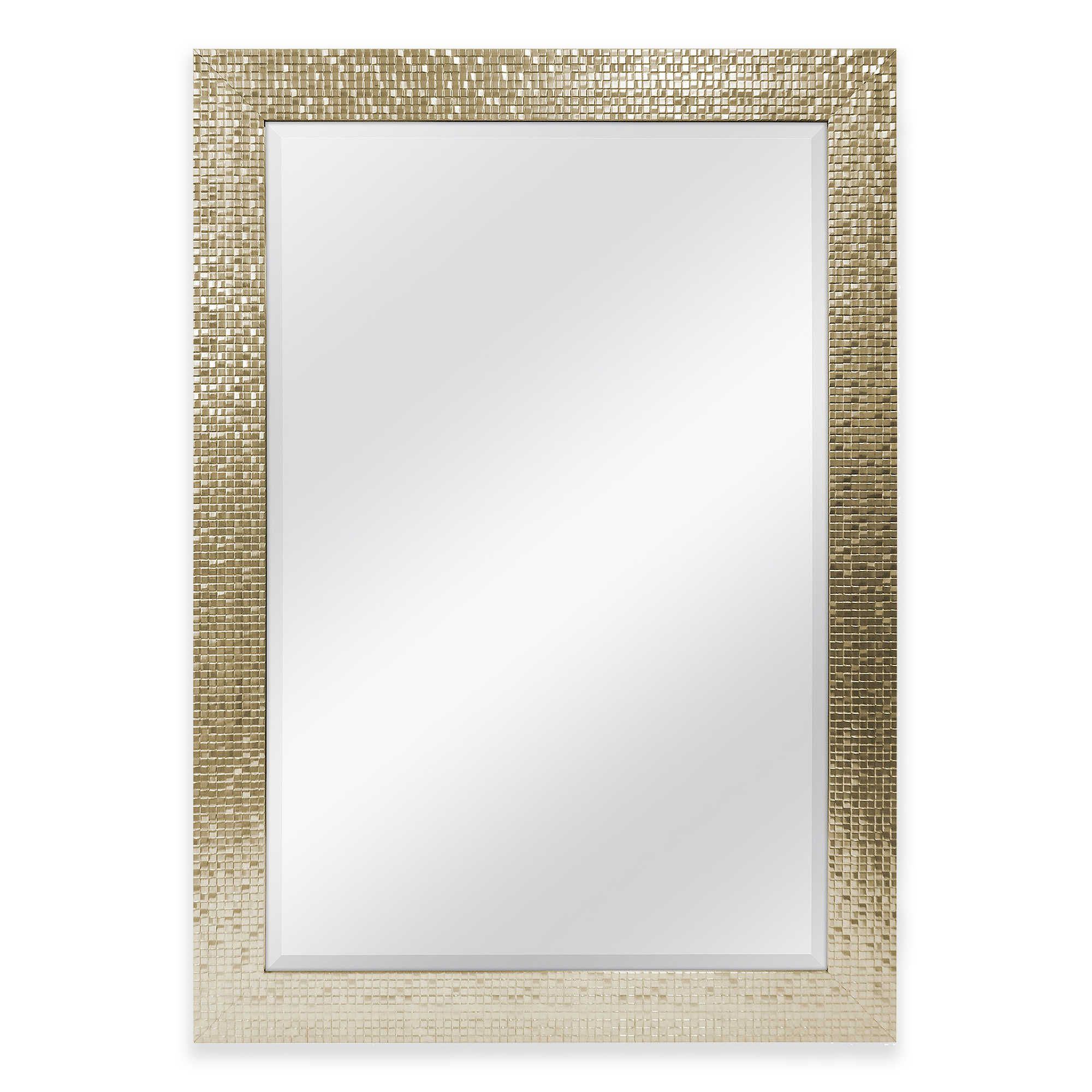 30 Inch X 42 Inch Large Mirror In Tile Champagne Mirror Home