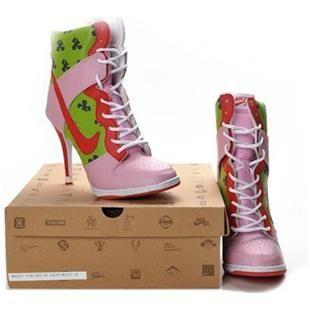 super popular 37fa3 12ea1 www.asneakers4u.com Patrick Star Nike Dunk Heels High Green Pink Red
