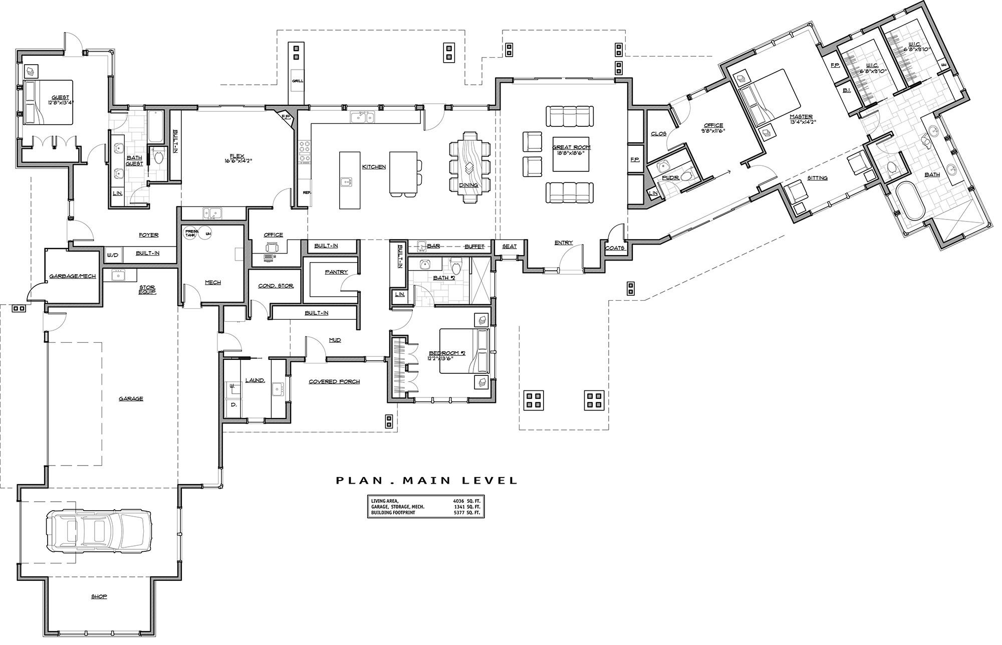 1st Floor Plan image of Modern Mountain Home (With images ...