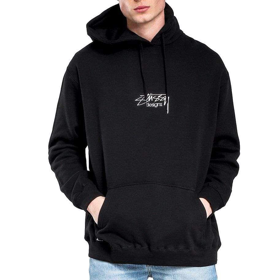 Shop Stussy Designs Hood Black Online Stussy Clothing Trendy Hoodies Stussy [ 913 x 913 Pixel ]