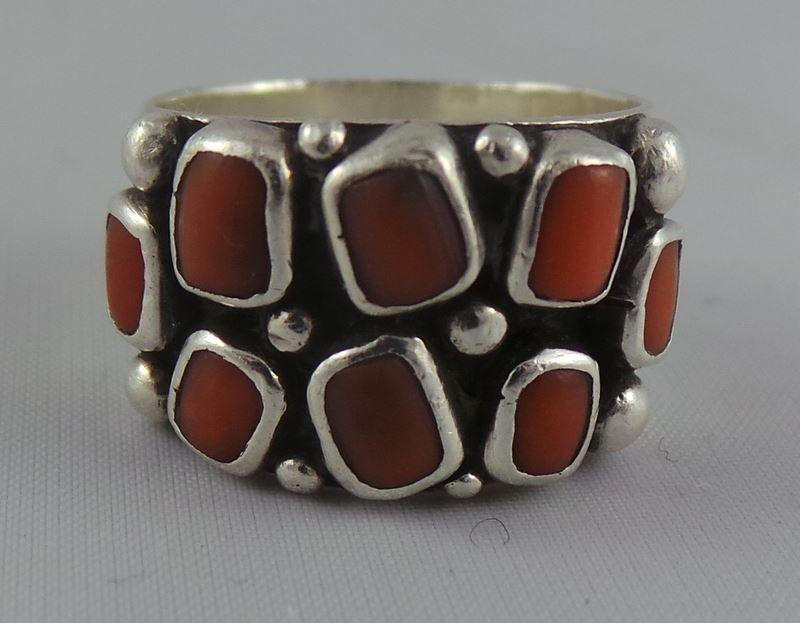 Srebrny Pierscionek O R N O Z Koralami 7165038170 Oficjalne Archiwum Allegro Vintage Silver Rings Ancient Jewelry Favorite Jewelry
