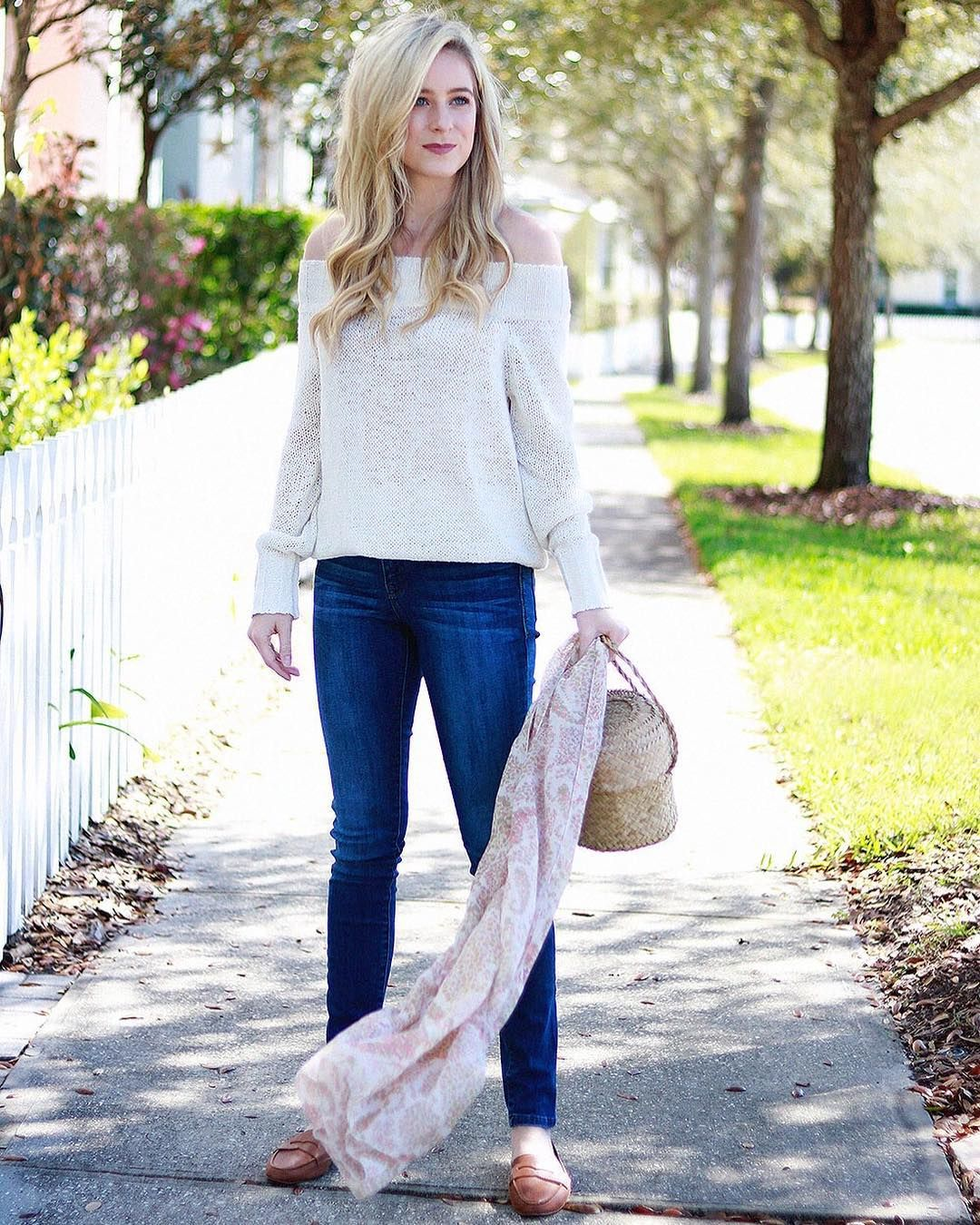 A Crisp Off-the-shoulder Sweater + The Most Comfortable