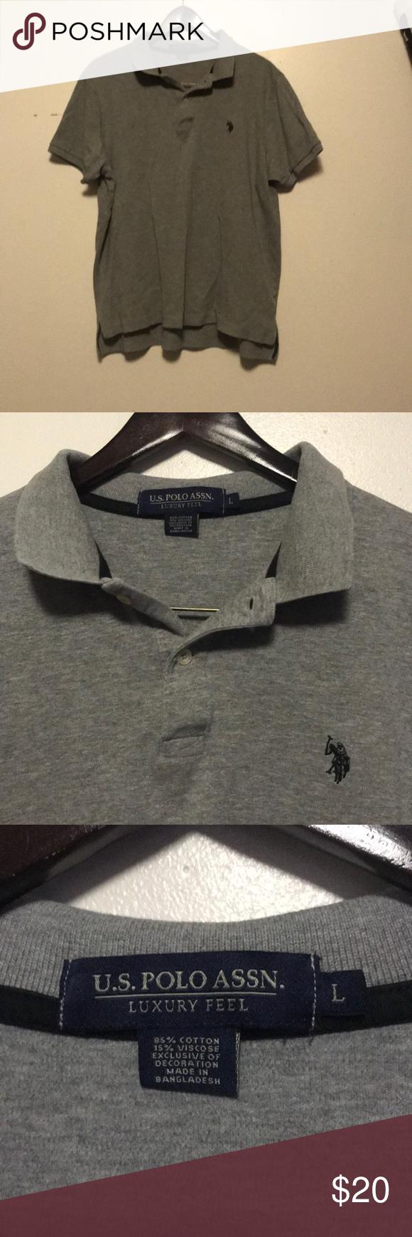 Us Polo Assn Luxury Feel Polo Us Polo Assn Luxury Feel Polo Dress Shirt Color Is Grey With Black Polo Logo No Polo Shirt Dress Comfy Shirts Clothes Design
