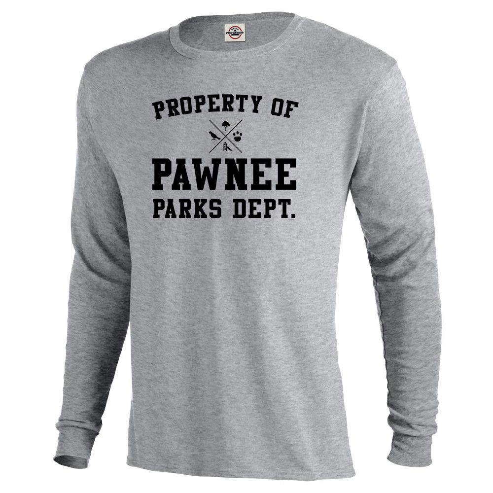 a10acc8a1 Parks and Recreation Property of Pawnee Long Sleeve T-Shirt   Parks ...