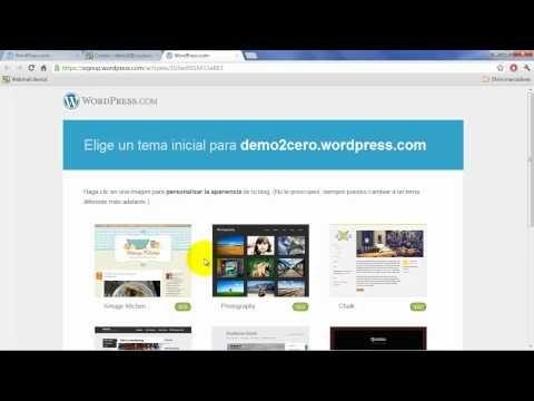 Cómo crear un blog (o página web) gratis con Wordpress.com (español ...
