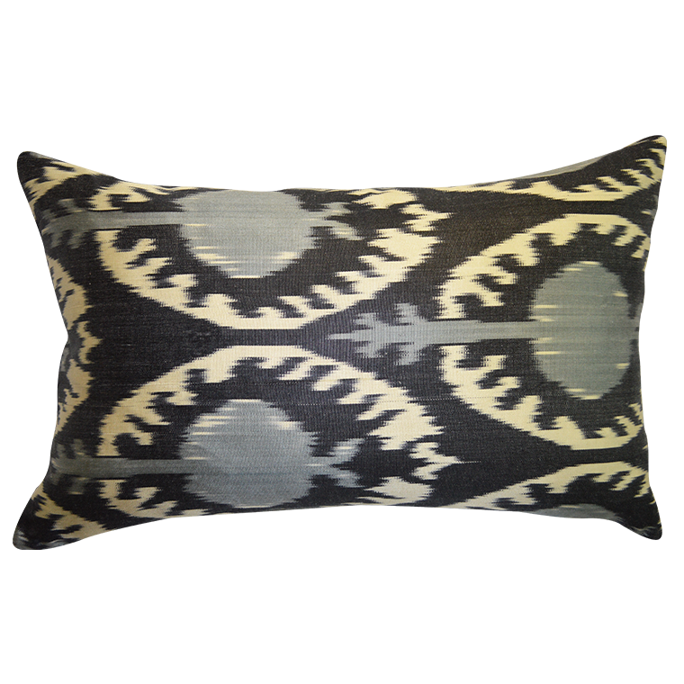 Gray Velvet and Silk Turkish Pillow shopceladon