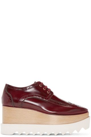 32d40b37793 Stella McCartney - Burgundy Platform Elyse Brogues Burgundy Brogues