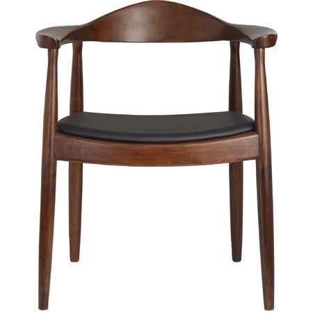 Inspired by iconic modern designs, this wood side chair showcases a molded back and taper legs. Pair it with a colorful console to create a chic workspace...