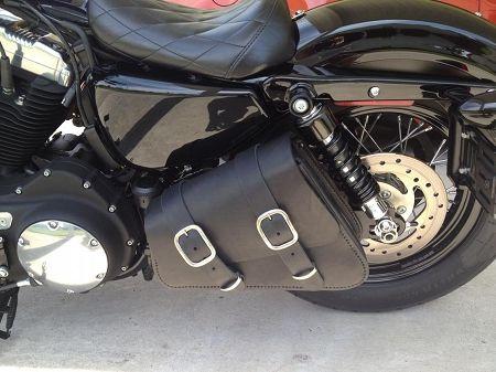 Leather Solo Swingarm Bag