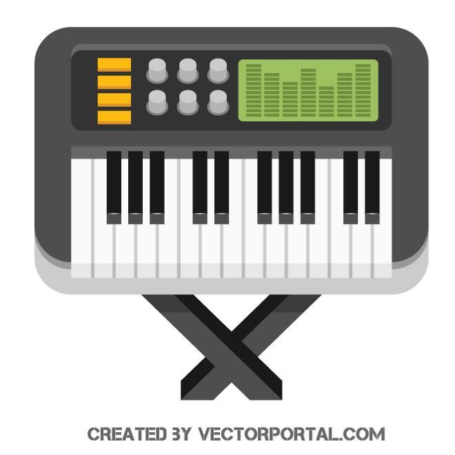 Electric Piano Vector Image
