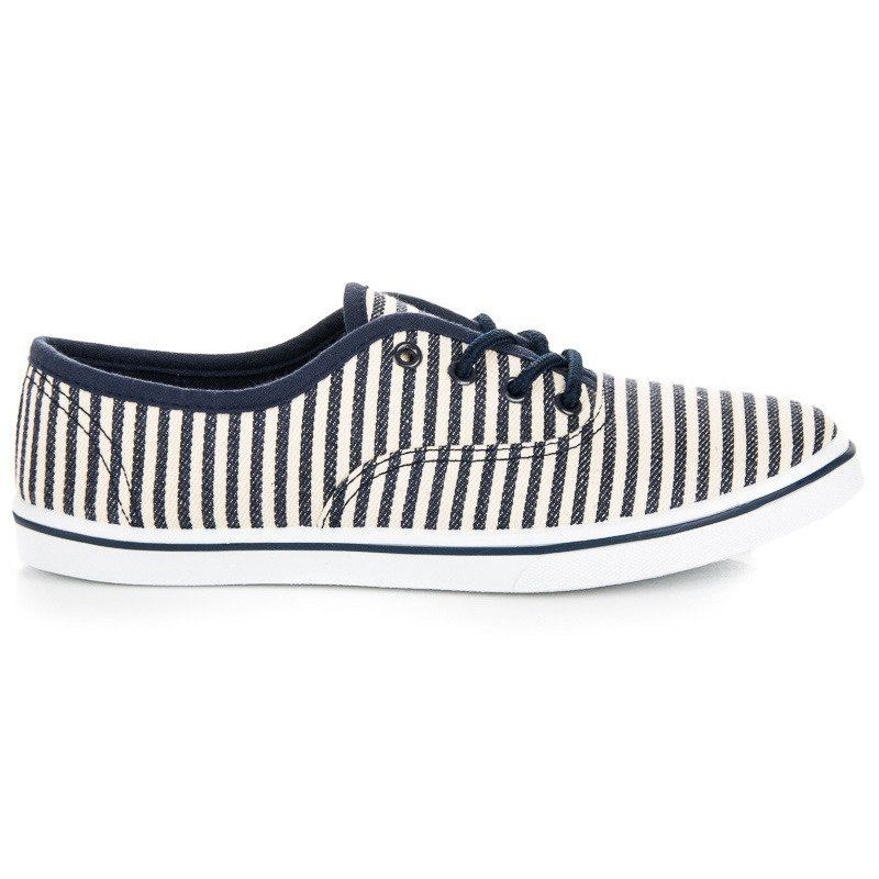 Mckey Trampki W Marynarskim Stylu Niebieskie Sneakers Shoes Fashion