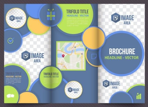 Free Business Tri-fold Brochure Template Vector | Tri fold brochure ...