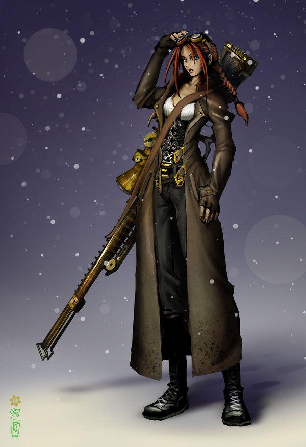Steam Sniper Steampunk Characters Steampunk Art Sniper