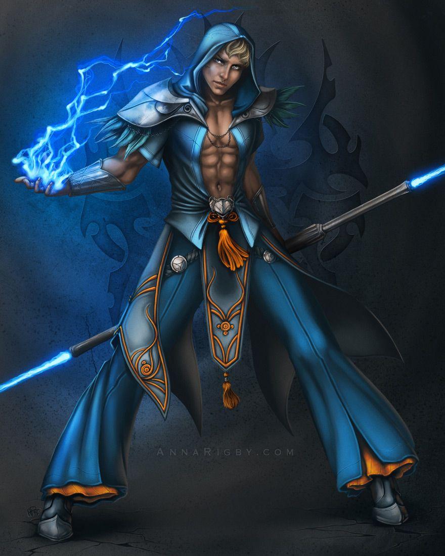 Warrior MageIllustration Studio Anna Rigby Character