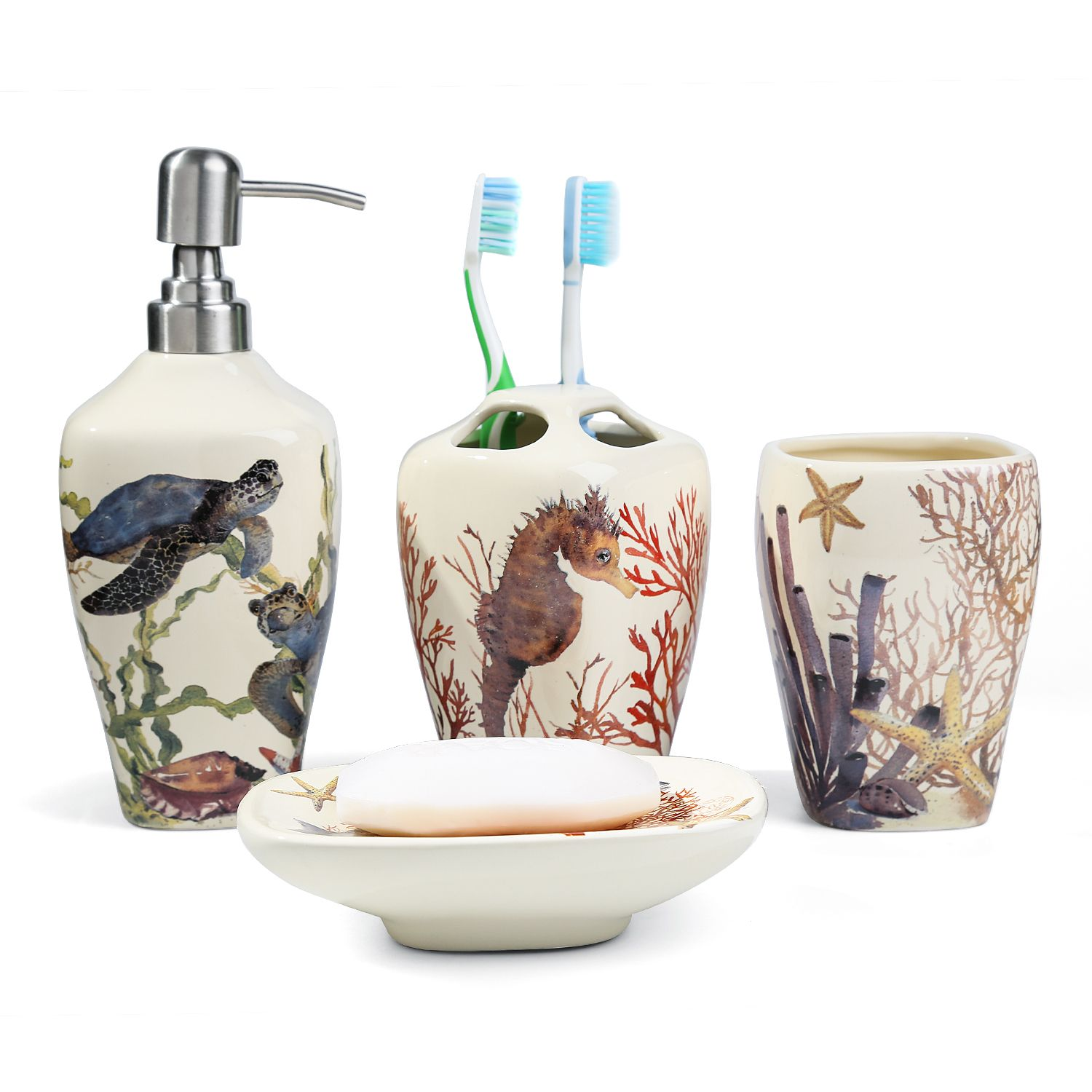 Get This Set Of Bathroom Accessories That Has Different Paint Of