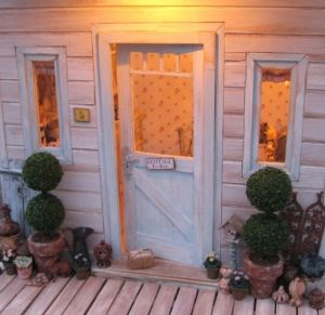 Miniature Shabby Chic Cottage by debbrap