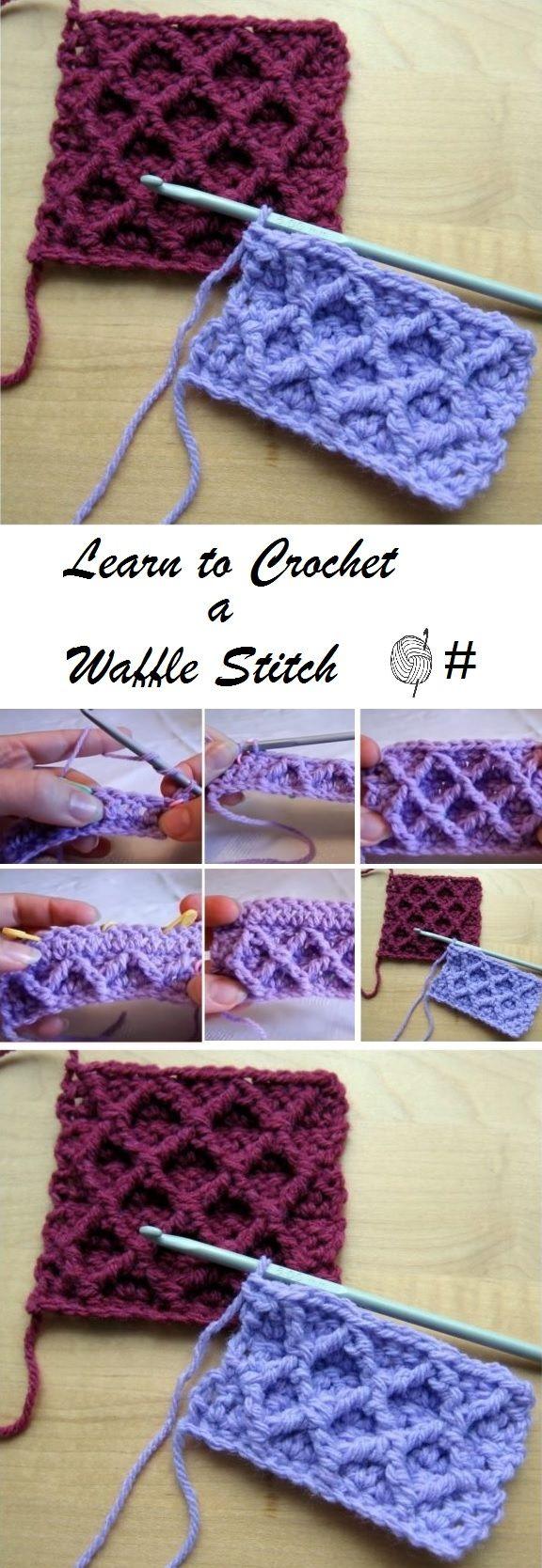 Diamond Trellis Stitch | Häkeln, Häkelmuster und Handarbeiten