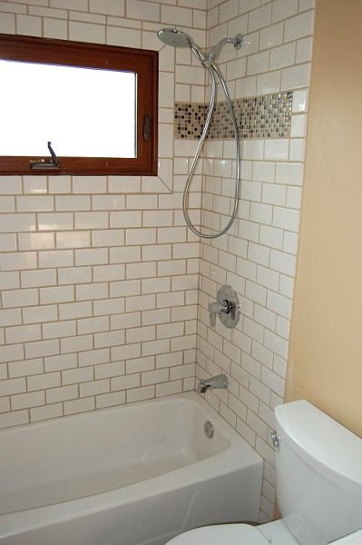 White Subway Tan Grout Decorating Amp Home Design