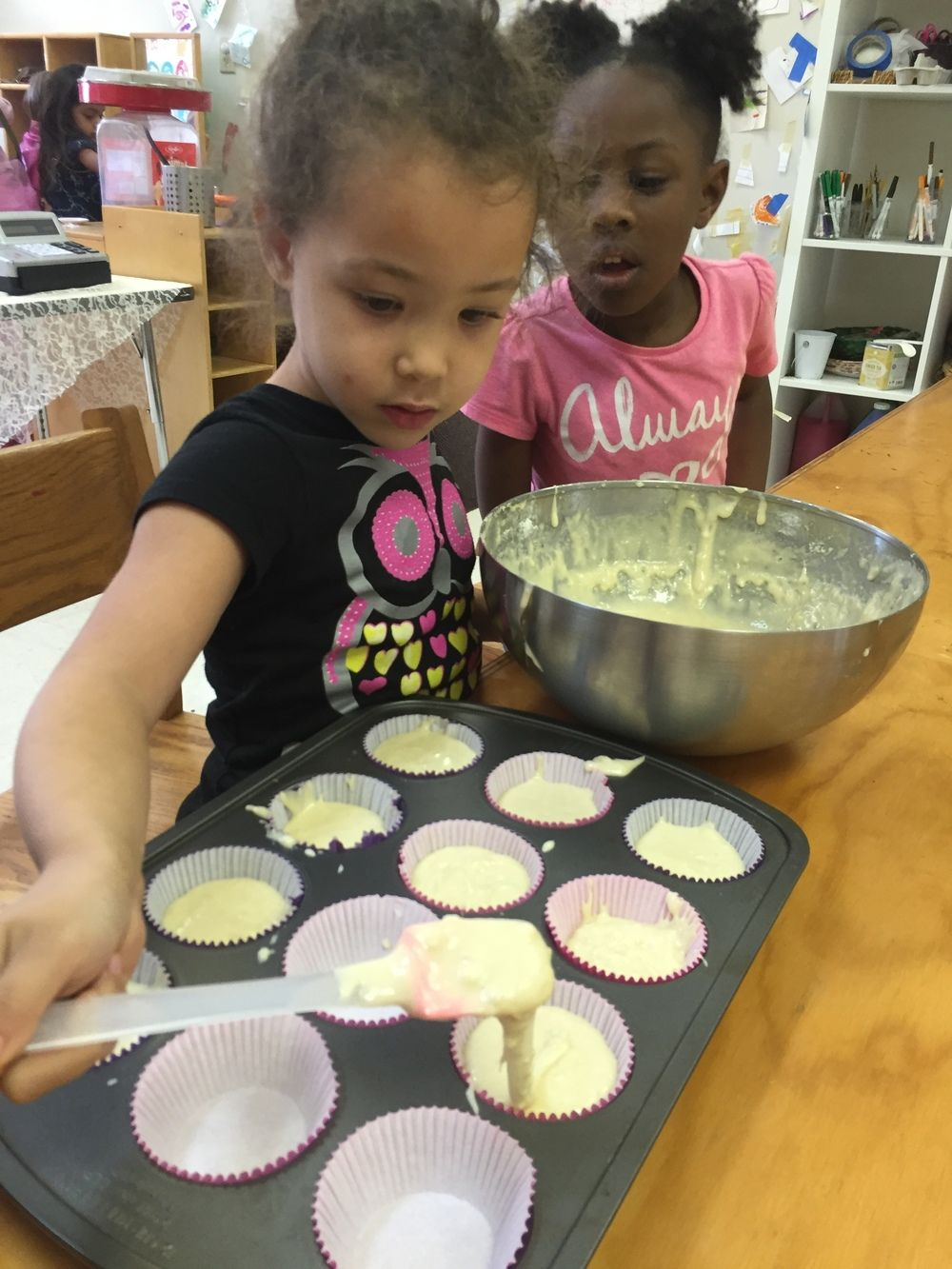 Making Cupcakes Requires A Great Deal Of Teamwork So The Children