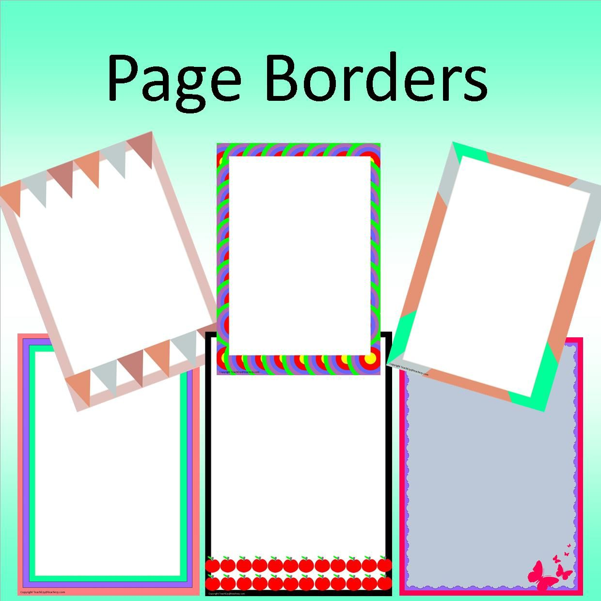 free borders for word documents
