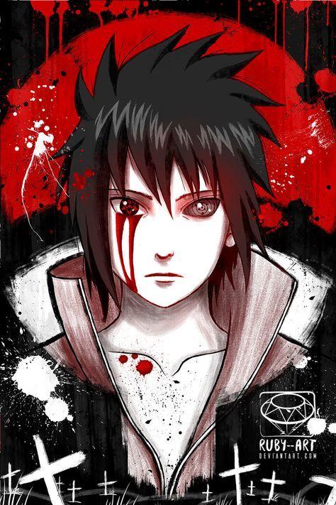 Sasuke Uchiwa By Ruby Art Naruto Shippuden Sasuke Anime Naruto