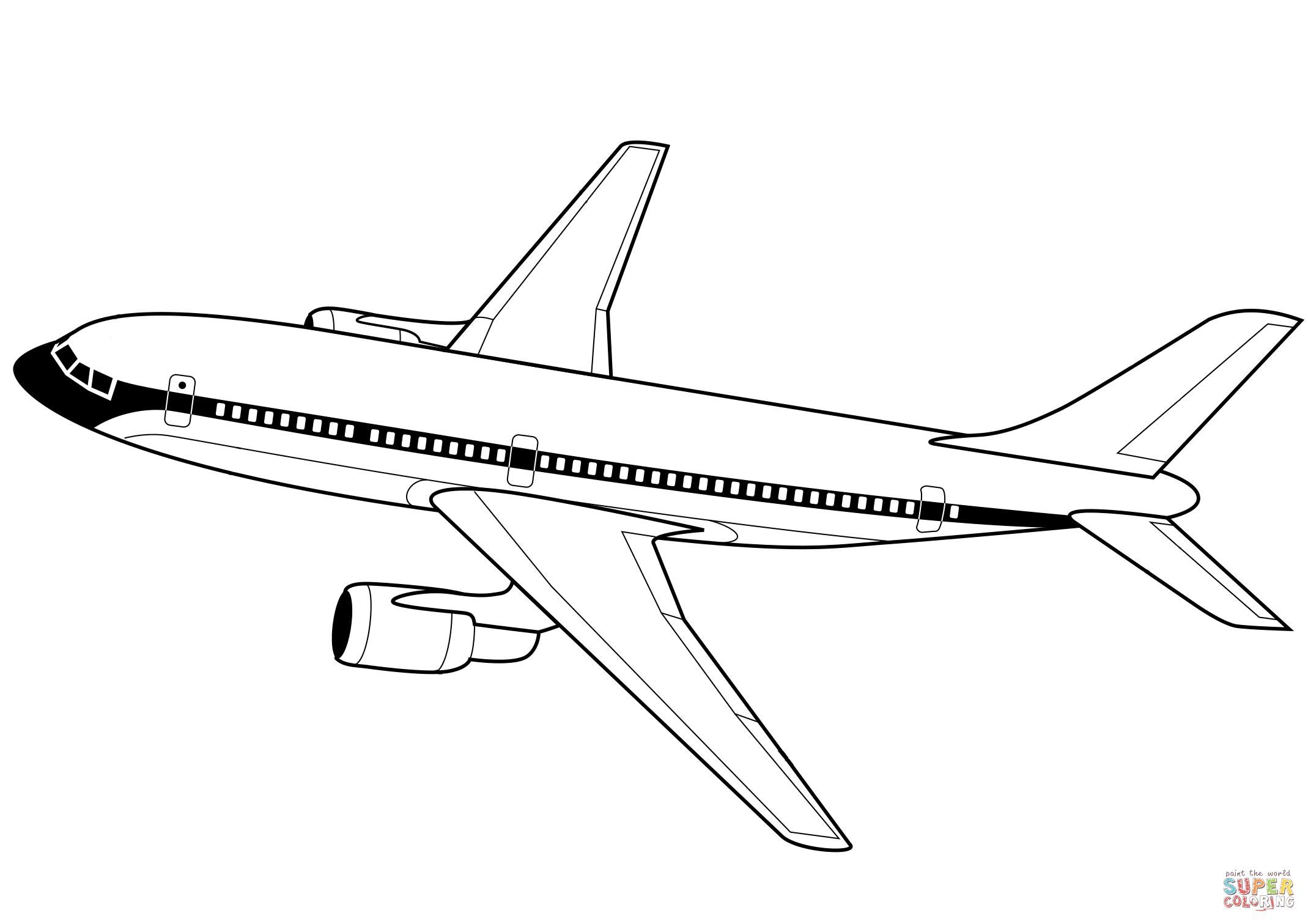 Avion De Linea Super Coloring Aviones Avion Dibujos Dibujos Bonitos