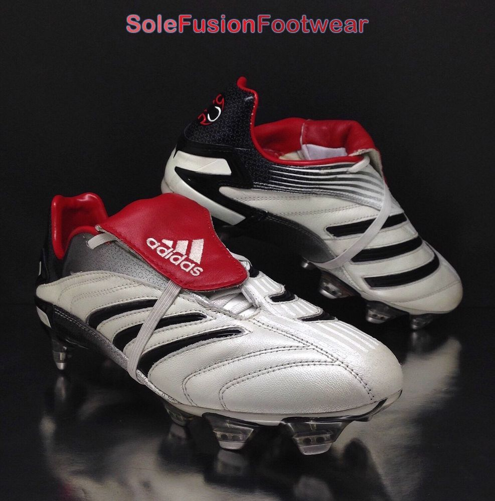 c55a02eadfdc adidas Predator Mens Absolute Football Boots White Red sz 6 XTRX Cleats  39.3 6.5