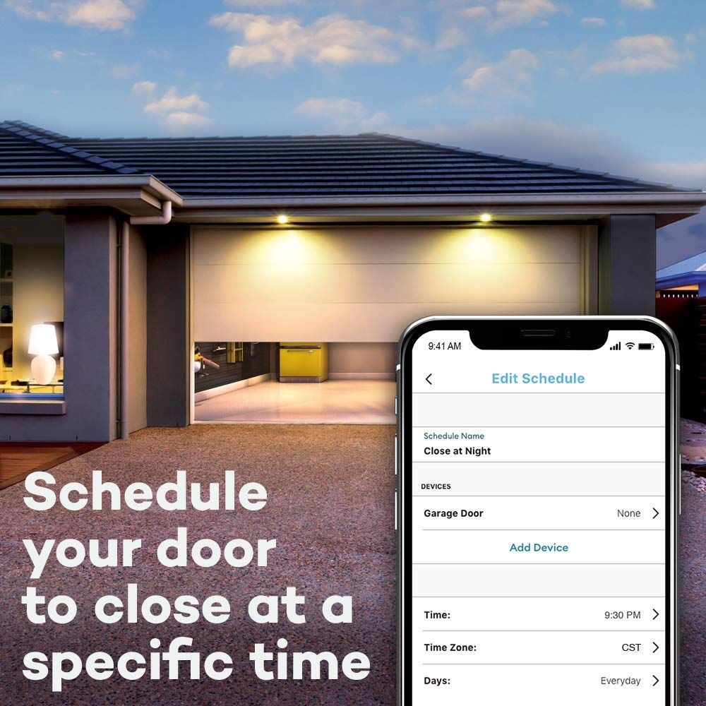 Myq Smart Garage Door Opener Chamberlain Myq G0301 Wireless Wi Fi Enabled Garage Hub Best Home Automation Home Automation Smart Garage Door Opener
