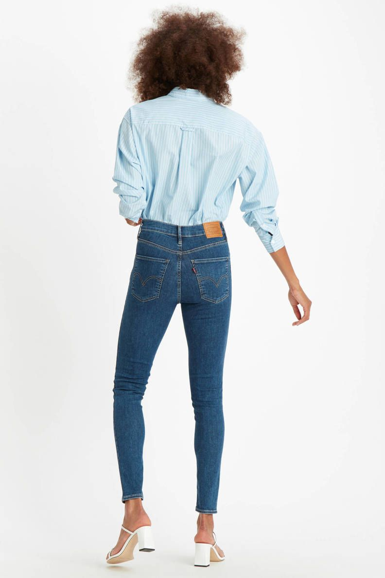 Mile high waist skinny jeans blauw in 2020 | Skinny, Mode, Jeans