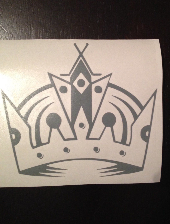 La Kings Crown Los Angeles Hockey Sports Sticker Decal Vinyl Car Sticker Decal Sports Vinyl Car Stickers Car Stickers Kings Crown [ 1500 x 1134 Pixel ]