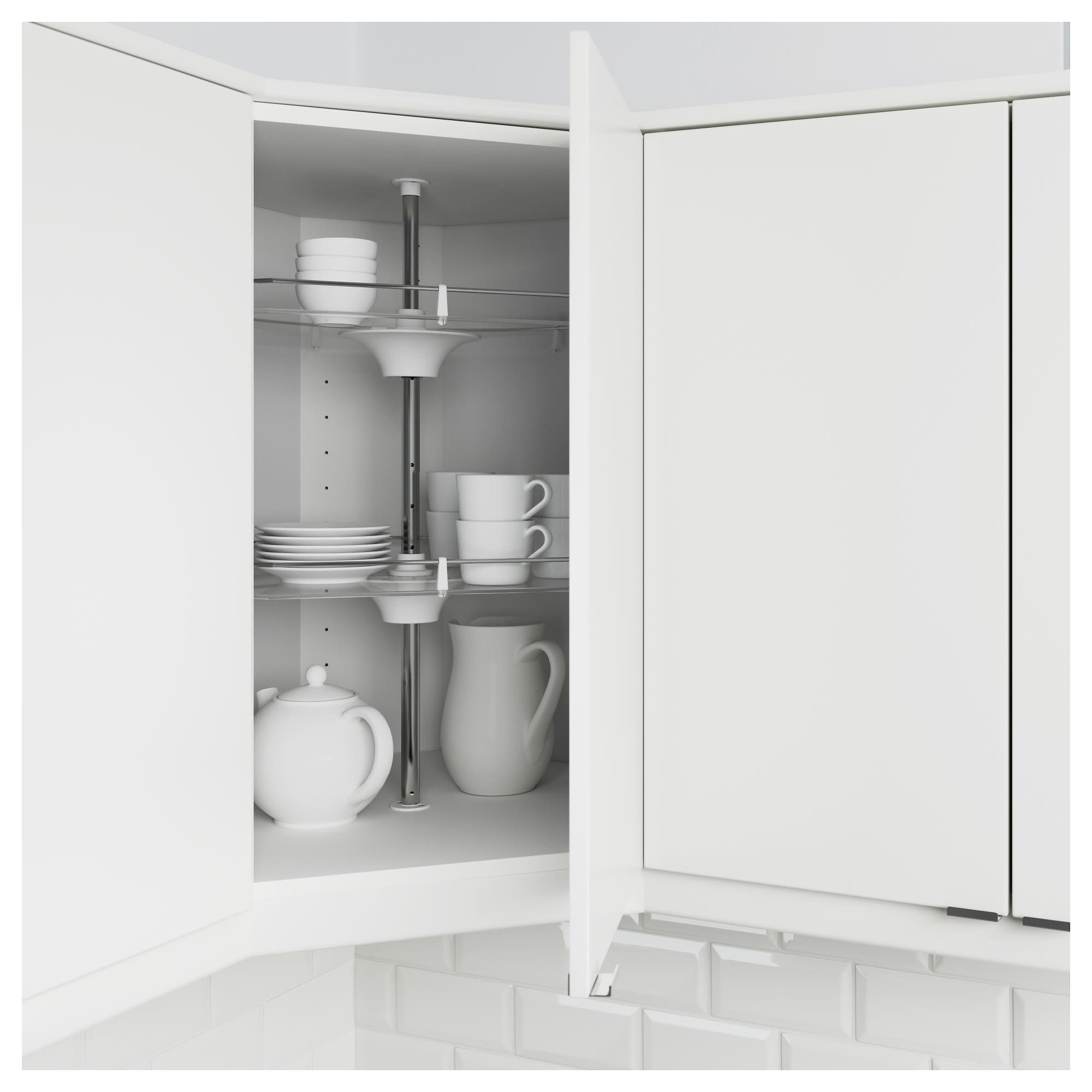 Utrusta Wall Corner Cabinet Carousel Ikea Ikea Kitchen Cabinets Kitchen Wall Cabinets Corner Cabinet