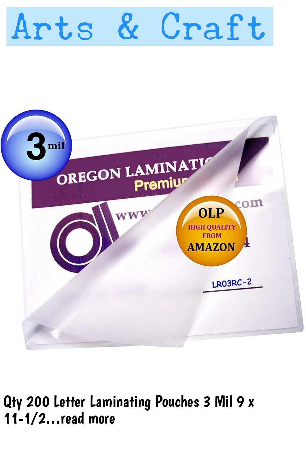 Qty 200 Letter Laminating Pouches 3 Mil 9 X 11 1 2 Hot In 2020 Lettering Pouch Craft Supplies