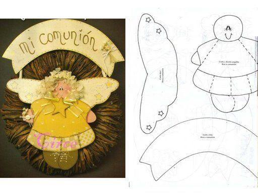 angelito country para comunin pintura eva