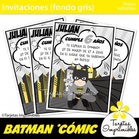 Batman Kit De Decoraciones De Fiesta Imprimibles Banderines