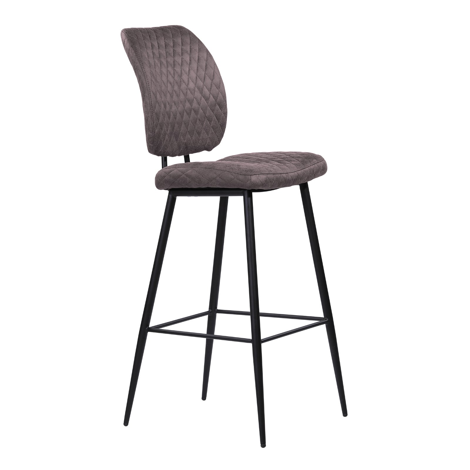 Home Chic Sherman 26 In Armless Counter Stool Grey Bar Stools