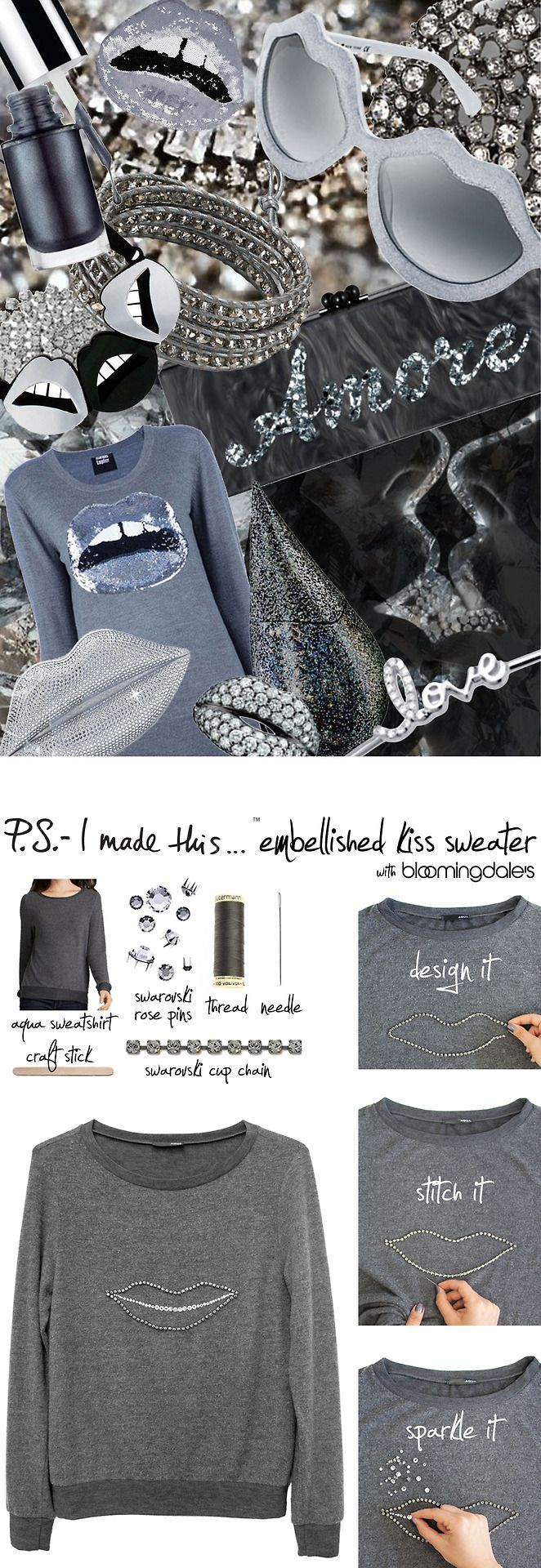 P.S. I made this...Embellished Kiss Sweater PSIMADETHIS