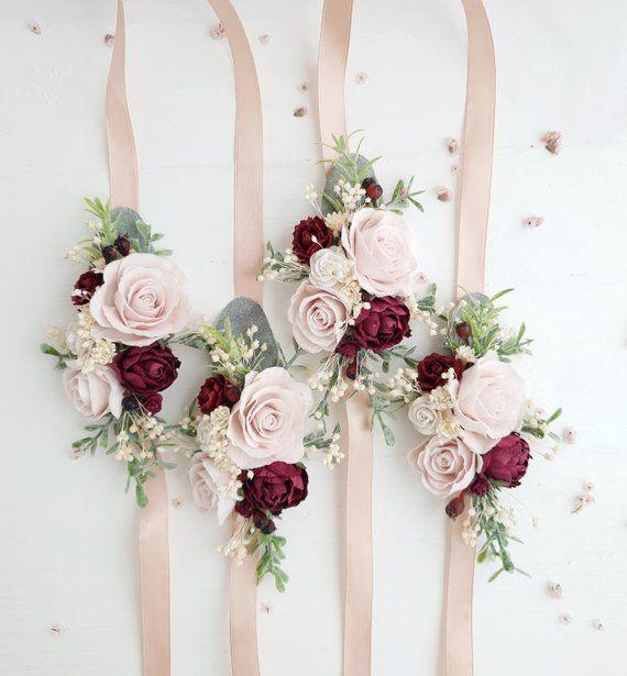 Flower wrist corsage, Bridesmaids wrist corsage, Wedding corsages, Flower corsage, Bridesmaids corsa – Boda fotos