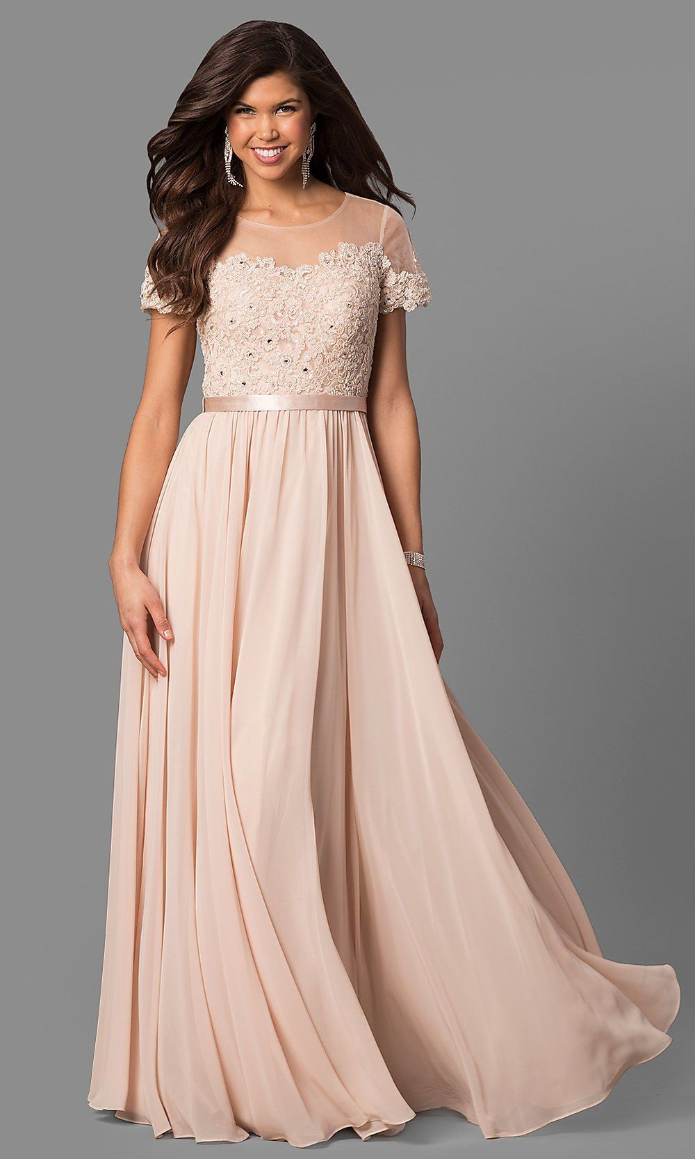 Under 200 Long Prom Dresses with Sleeves