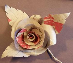 Paper rose kraft paper paper roses and crafts how to make realistic paper roses from various papers and materials cut out pieces of mightylinksfo